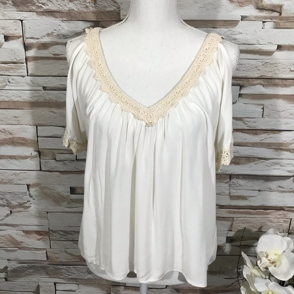 Rich&Beautiful Tops - Rich &Beautiful Blouse Sz L (N32)